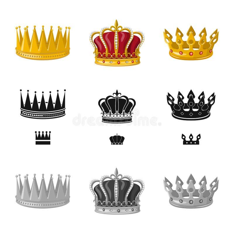 Ejemplo del vector de la muestra medieval y de la nobleza Colecci?n de ejemplo com?n medieval y de la monarqu?a del vector libre illustration