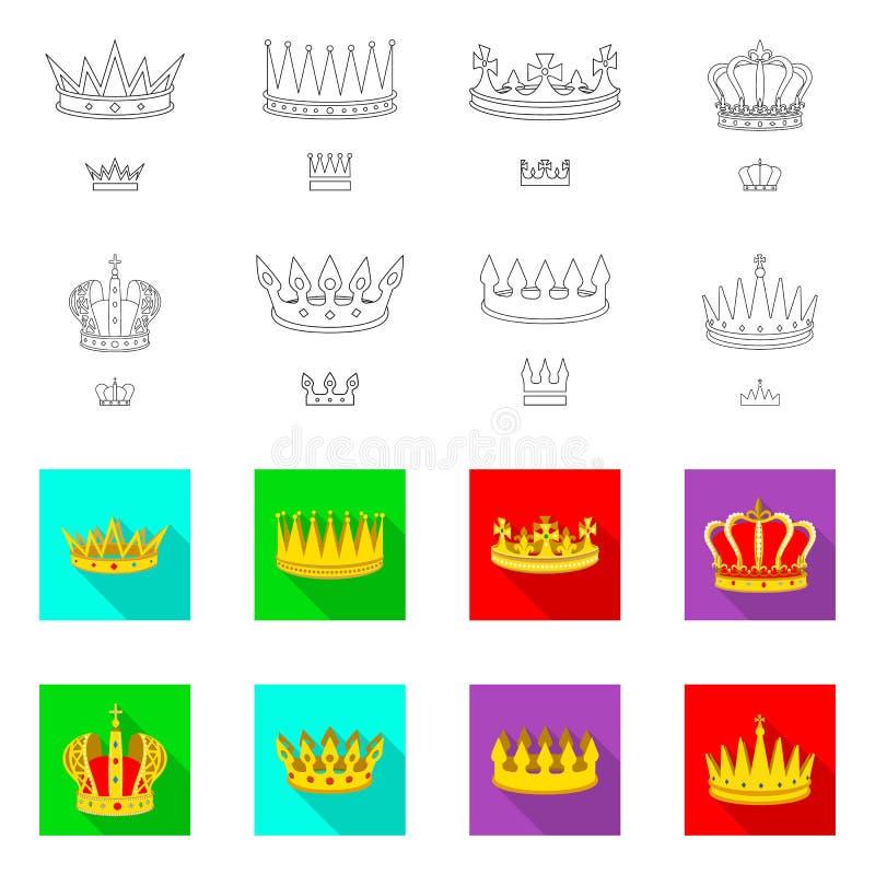 Ejemplo del vector de la muestra medieval y de la nobleza Colecci?n de icono medieval y de la monarqu?a del vector para la acci?n stock de ilustración