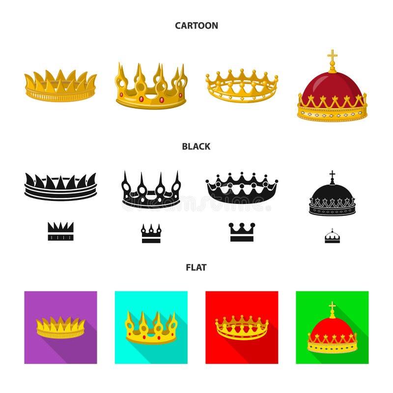 Ejemplo del vector de la muestra medieval y de la nobleza Colecci?n de s?mbolo com?n medieval y de la monarqu?a para la web stock de ilustración
