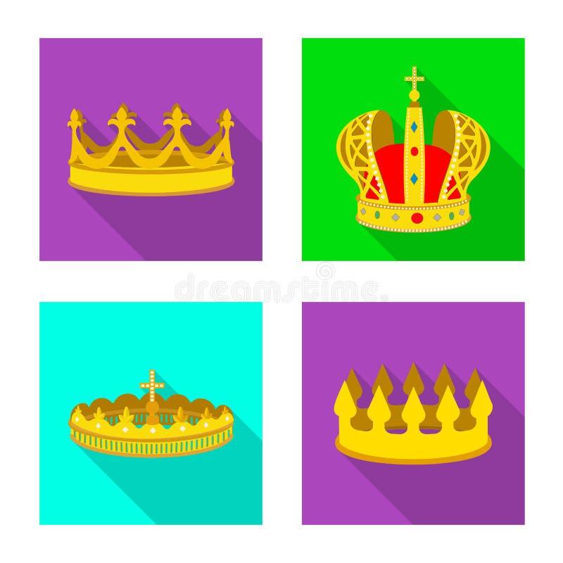 Ejemplo del vector de la muestra medieval y de la nobleza Fije del ejemplo com?n medieval y de la monarqu?a del vector libre illustration
