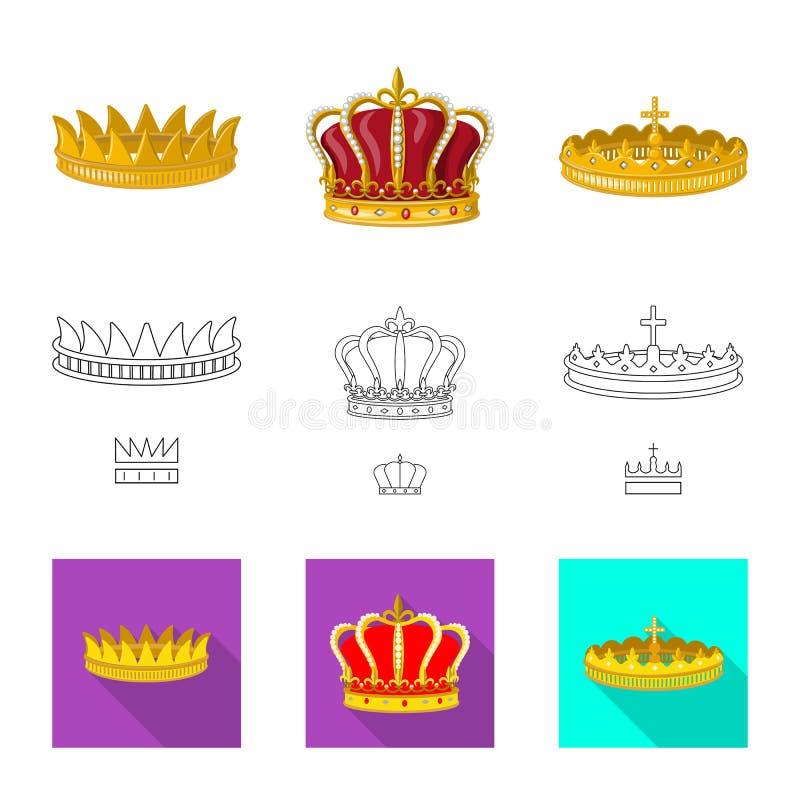Ejemplo del vector de la muestra medieval y de la nobleza Fije del ejemplo com?n medieval y de la monarqu?a del vector ilustración del vector
