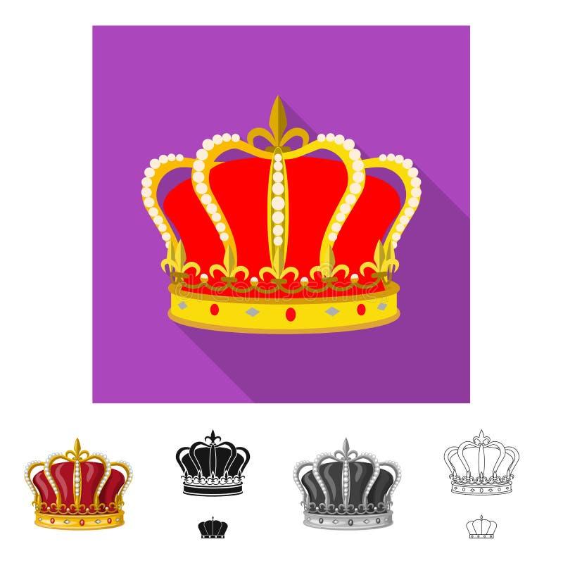 Ejemplo del vector de la muestra medieval y de la nobleza Fije del icono medieval y de la monarqu?a del vector para la acci?n ilustración del vector