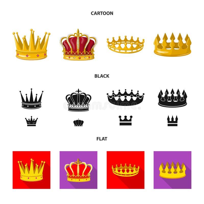 Ejemplo del vector de la muestra medieval y de la nobleza Fije del s?mbolo com?n medieval y de la monarqu?a para la web stock de ilustración