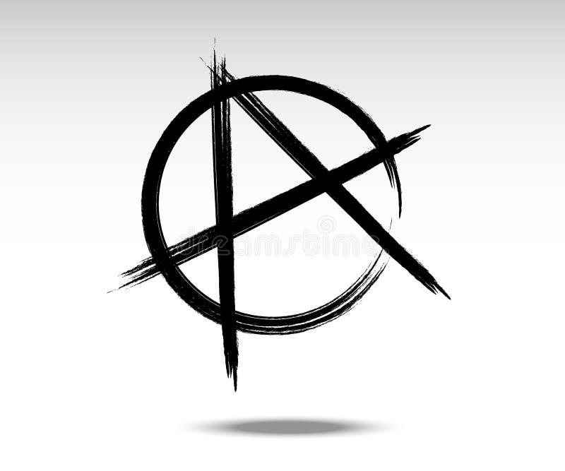 Ejemplo del vector de la muestra negra de la anarquía ilustración del vector