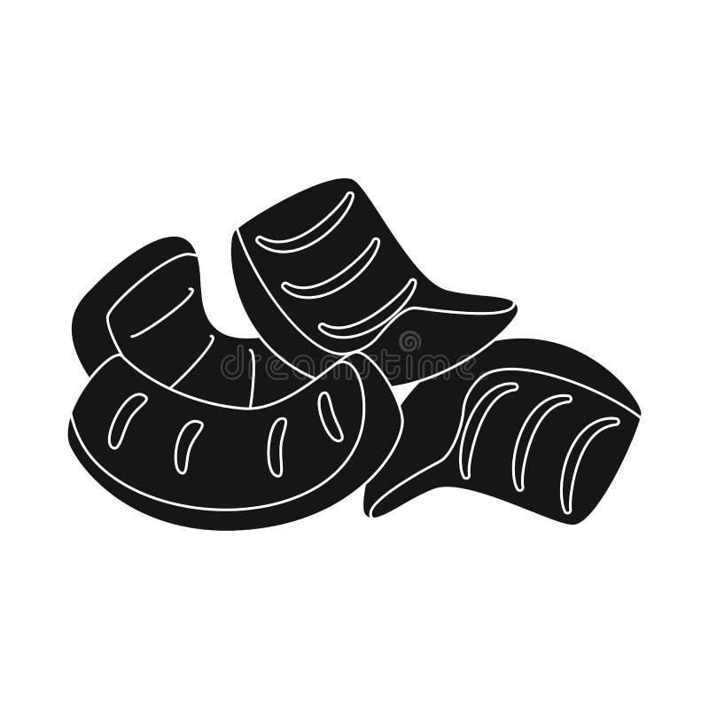Ejemplo del vector de la muestra de la paja y del bocado Colección de paja y de símbolo común cocido para la web ilustración del vector