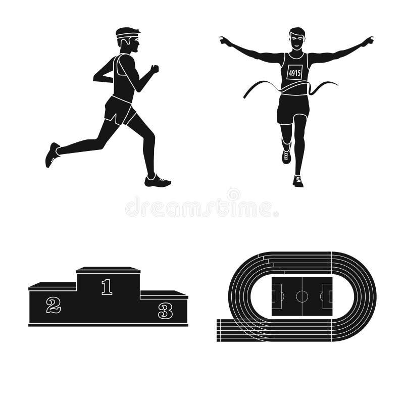 Ejemplo del vector de la muestra de la salud y de la aptitud Fije del s?mbolo com?n de la salud y del sprint para la web libre illustration