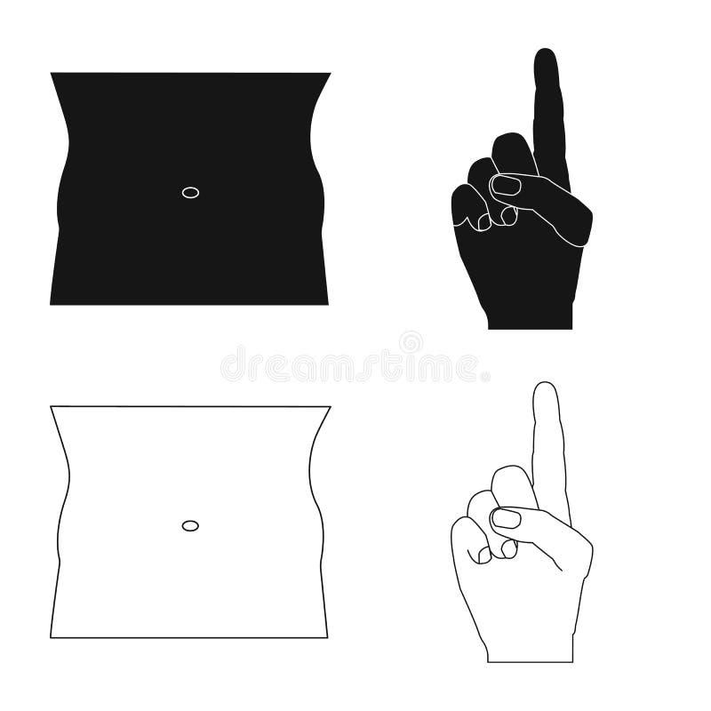 Ejemplo del vector de la muestra del ser humano y de la parte Colección de icono del vector del ser humano y de la mujer para la  stock de ilustración