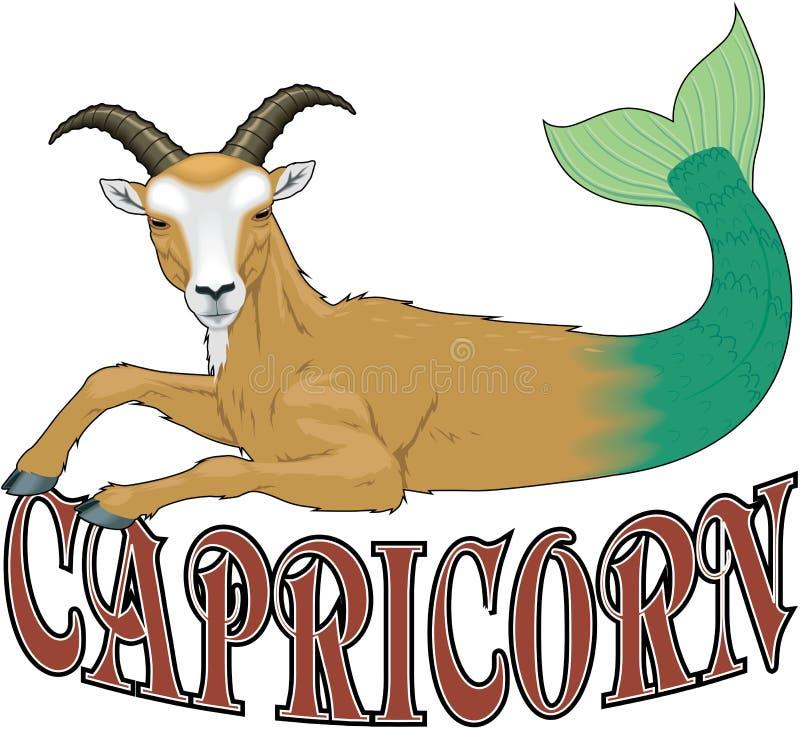 Ejemplo del vector de la muestra del zodiaco del Capricornio ilustración del vector