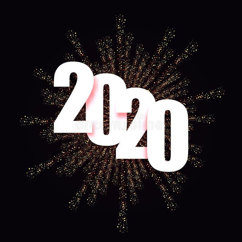 Ejemplo del vector de la Navidad del fondo de la Feliz Año Nuevo 2020 libre illustration