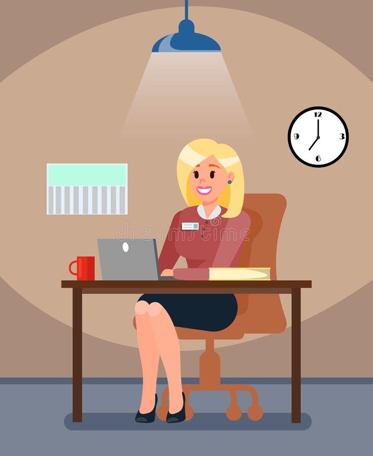Ejemplo del vector de la oficina del encargado de la hora en privado ilustración del vector