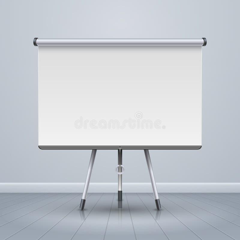 Ejemplo del vector de la pantalla de la presentación del proyector de Whiteboard ilustración del vector