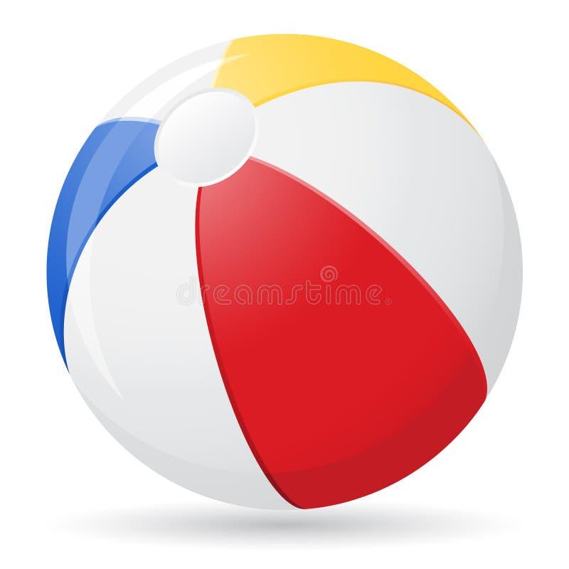 Ejemplo del vector de la pelota de playa stock de ilustración