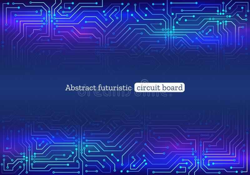Ejemplo del vector de la placa de circuito Contexto futurista de la estructura stock de ilustración