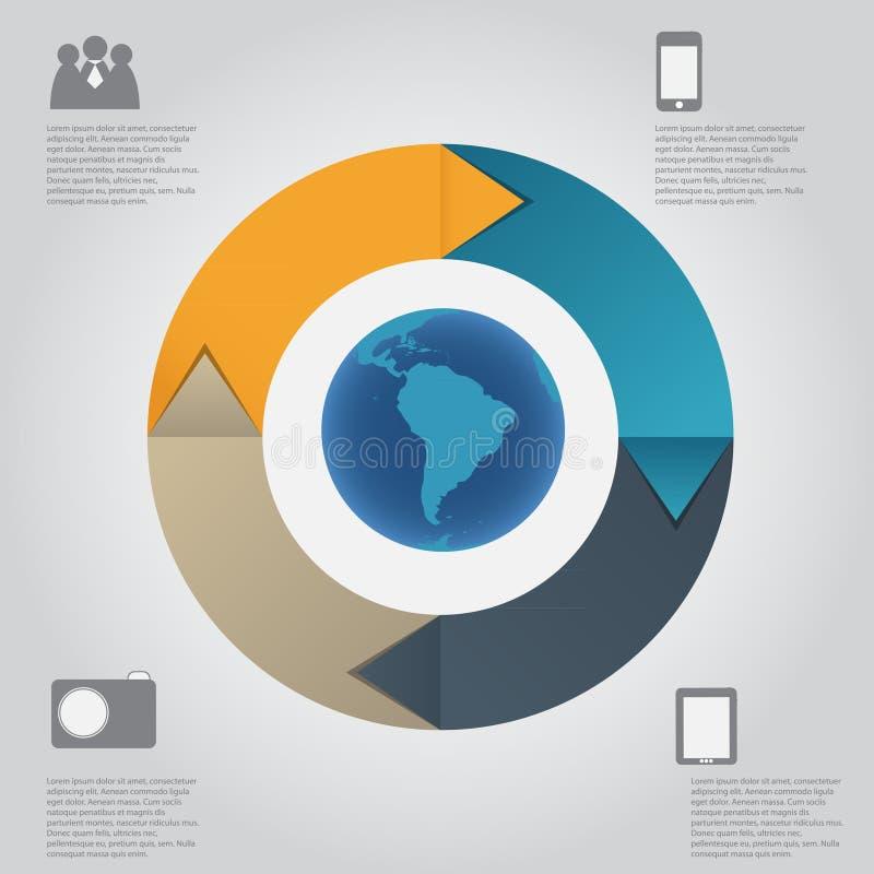 Ejemplo del vector de la plantilla de Infographic stock de ilustración