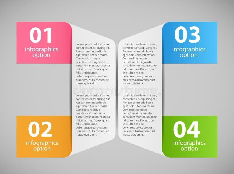Ejemplo del vector de la plantilla de Infographic ilustración del vector