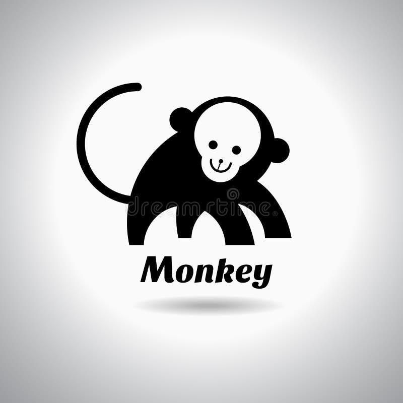 Ejemplo del vector de la plantilla del logotipo del mono ilustración del vector