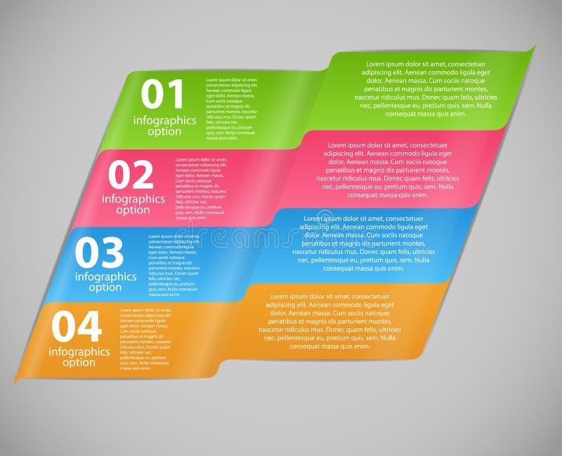 Ejemplo del vector de la plantilla del negocio de Infographic ilustración del vector