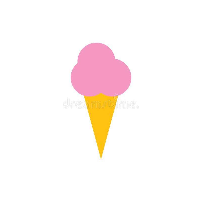 Ejemplo del vector de la plantilla del diseño gráfico del icono del cono de helado libre illustration