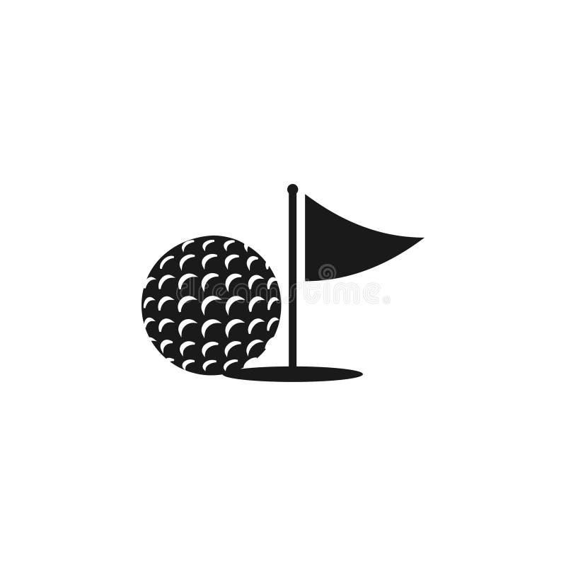 Ejemplo del vector de la plantilla del diseño gráfico del icono del golf stock de ilustración