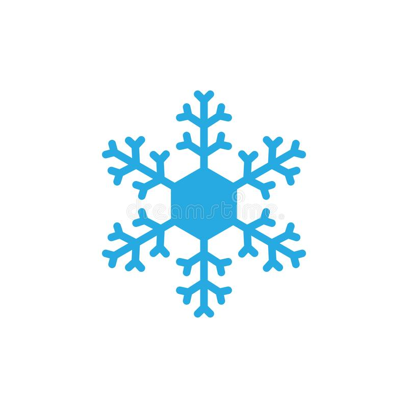 Ejemplo del vector de la plantilla del diseño del icono del copo de nieve libre illustration