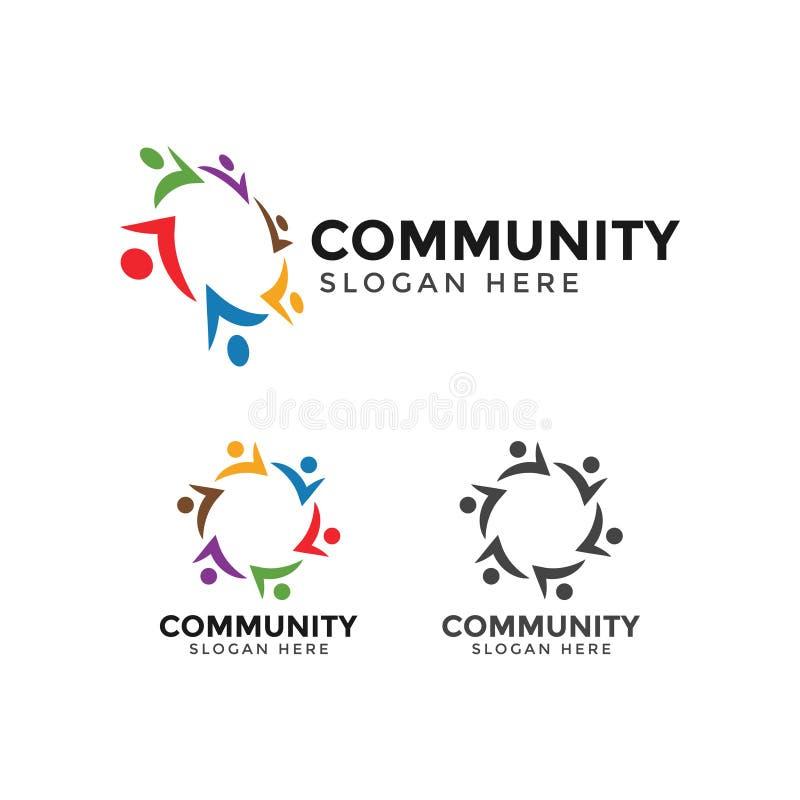 Ejemplo del vector de la plantilla del diseño del icono del logotipo de la gente de la comunidad ilustración del vector