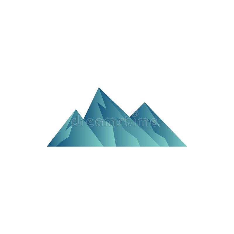 Ejemplo del vector de la plantilla del diseño del icono de la montaña foto de archivo
