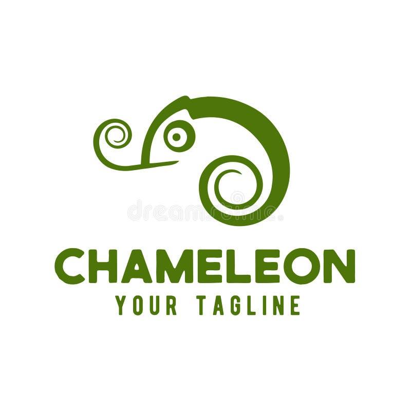 Ejemplo del vector de la plantilla del diseño del logotipo del camaleón libre illustration