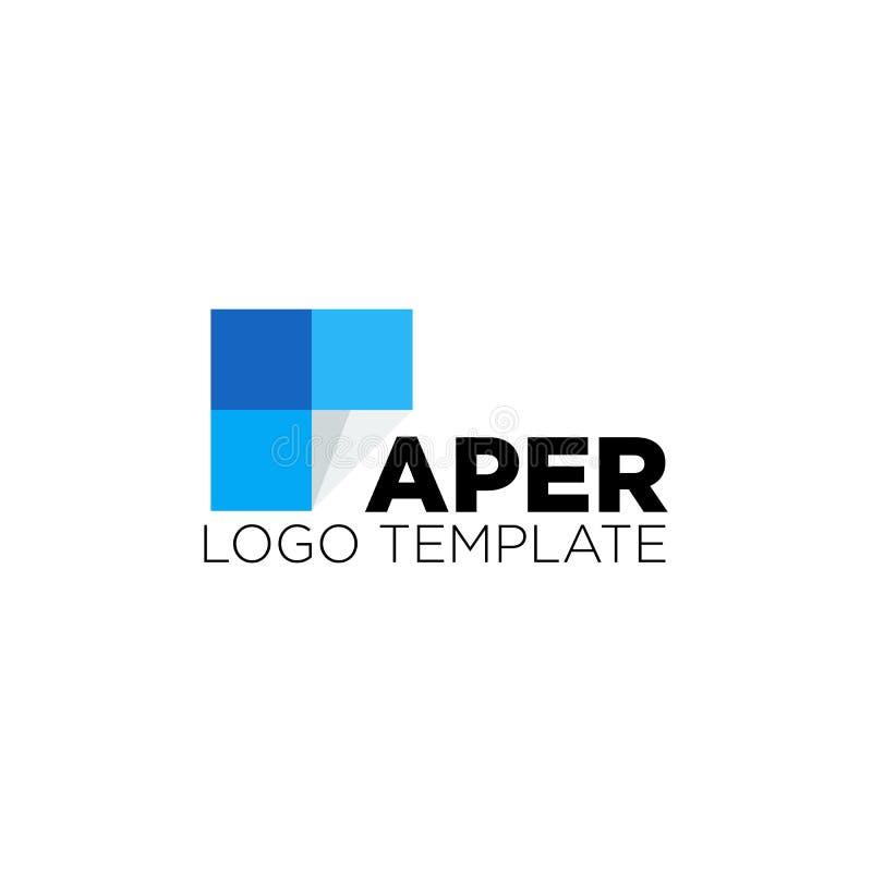 ejemplo del vector de la plantilla del diseño del logotipo de la industria de papel ilustración del vector