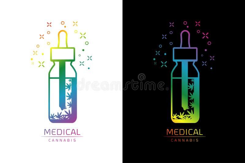Ejemplo del vector de la plantilla del logotipo del aceite del cáñamo libre illustration