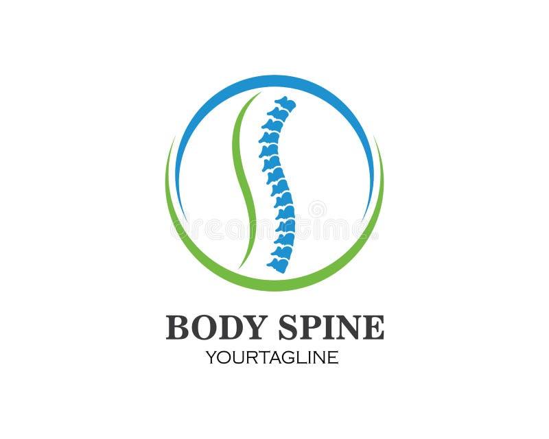 Ejemplo del vector de la plantilla del logotipo del s?mbolo de los diagn?sticos de la espina dorsal stock de ilustración