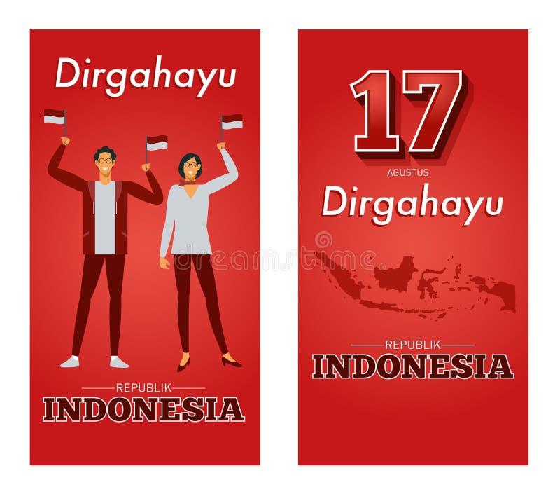 Ejemplo del vector de la República del Día de la Independencia de Indonesia libre illustration