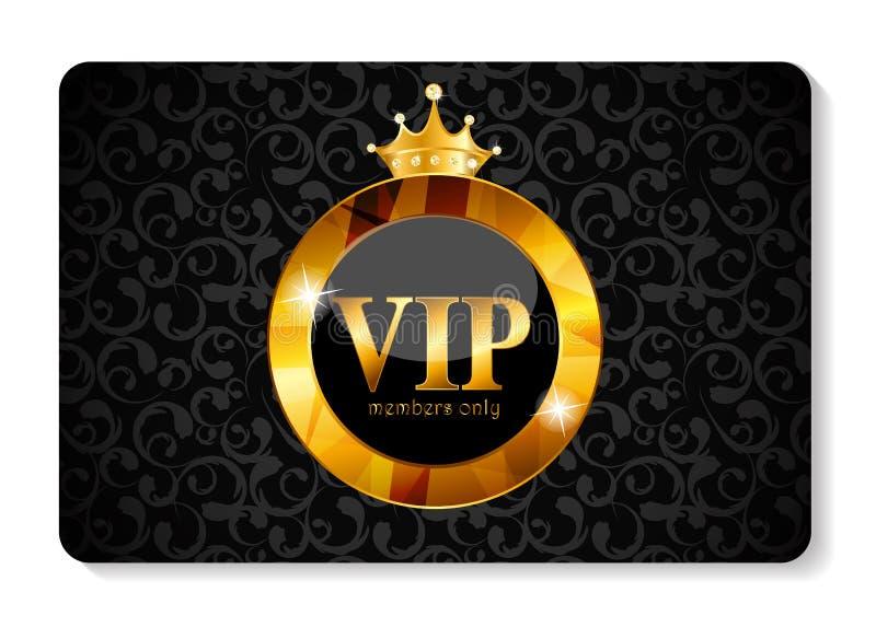 Ejemplo del vector de la tarjeta de los miembros del VIP stock de ilustración