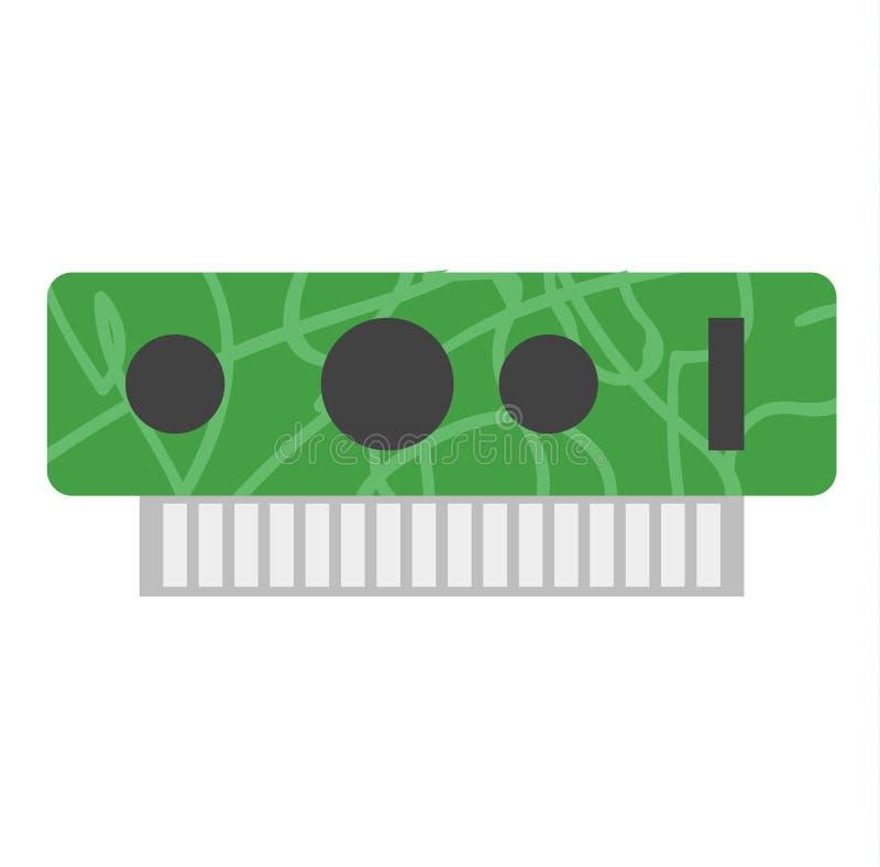 Ejemplo del vector de la tarjeta de vídeo stock de ilustración