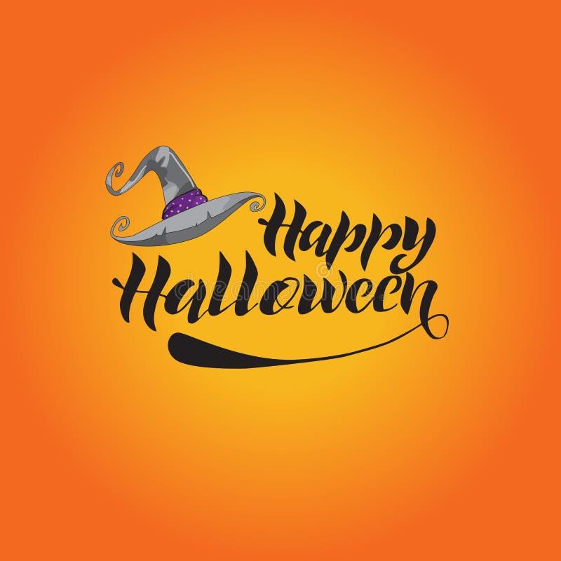 Ejemplo del vector de la tarjeta de felicitación del feliz Halloween ilustración del vector