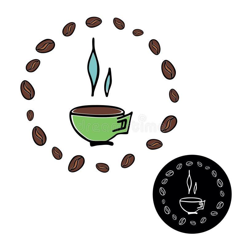 Ejemplo del vector de la taza de café ilustración del vector