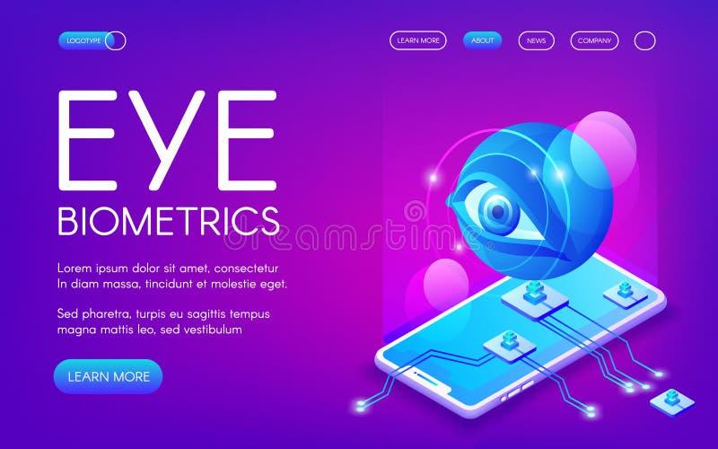 Ejemplo del vector de la tecnología de la biométrica del ojo stock de ilustración