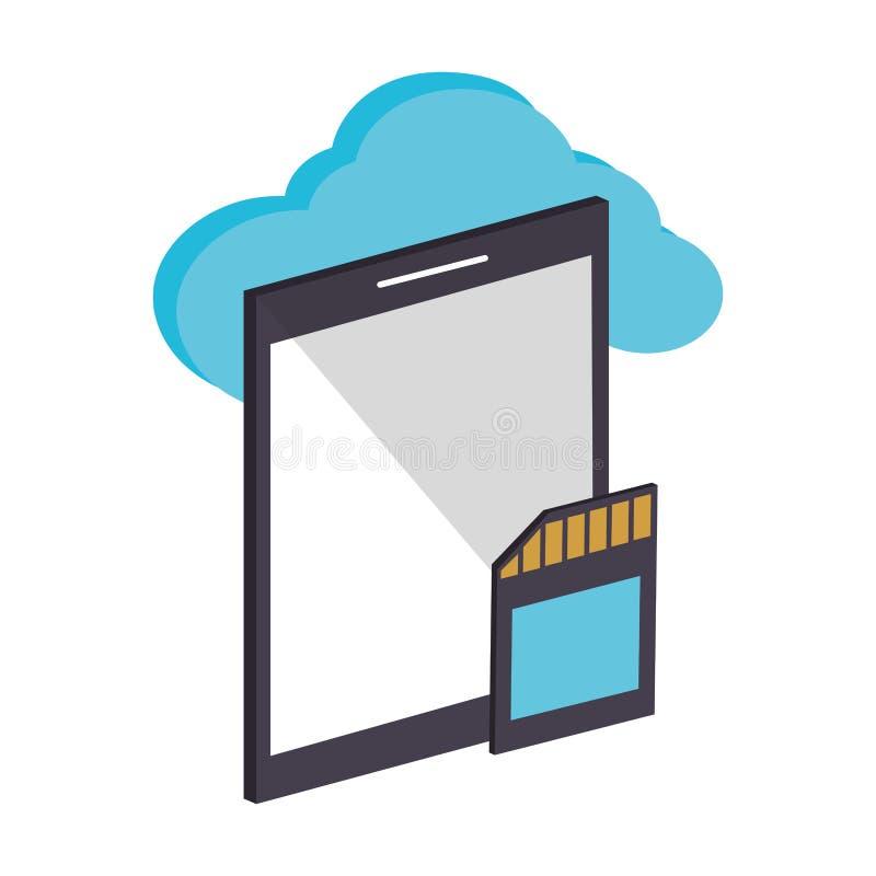 Ejemplo del vector de la tecnolog?a de ordenadores de la nube libre illustration