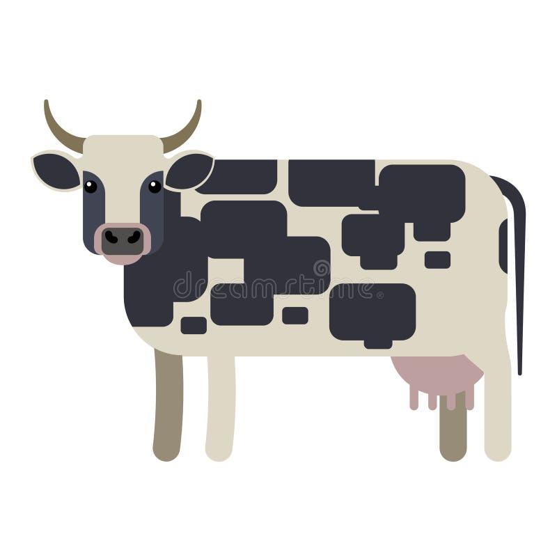 Ejemplo del vector de la vaca stock de ilustración