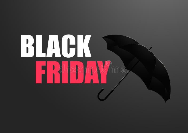 Ejemplo del vector de la venta de Black Friday stock de ilustración