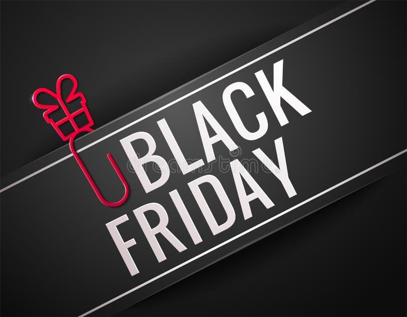 Ejemplo del vector de la venta de Black Friday ilustración del vector
