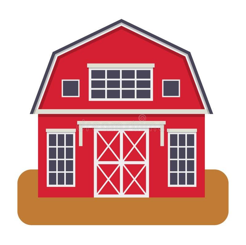 Ejemplo del vector de la vista delantera de la casa libre illustration