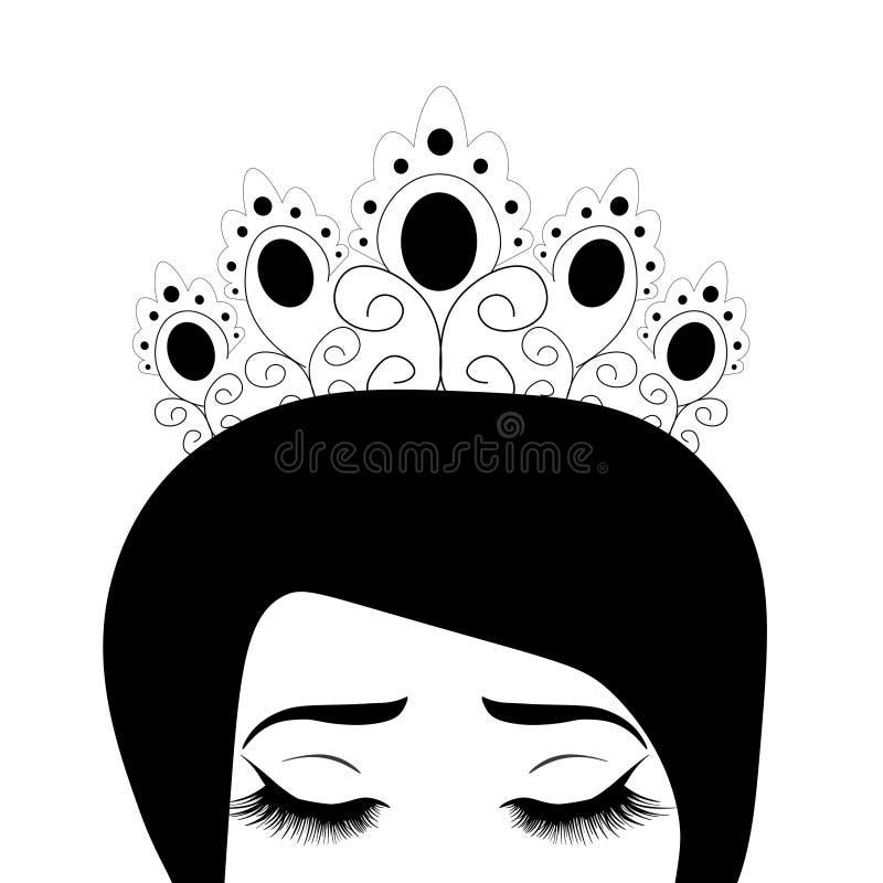 Ejemplo del vector de la web de la reina libre illustration