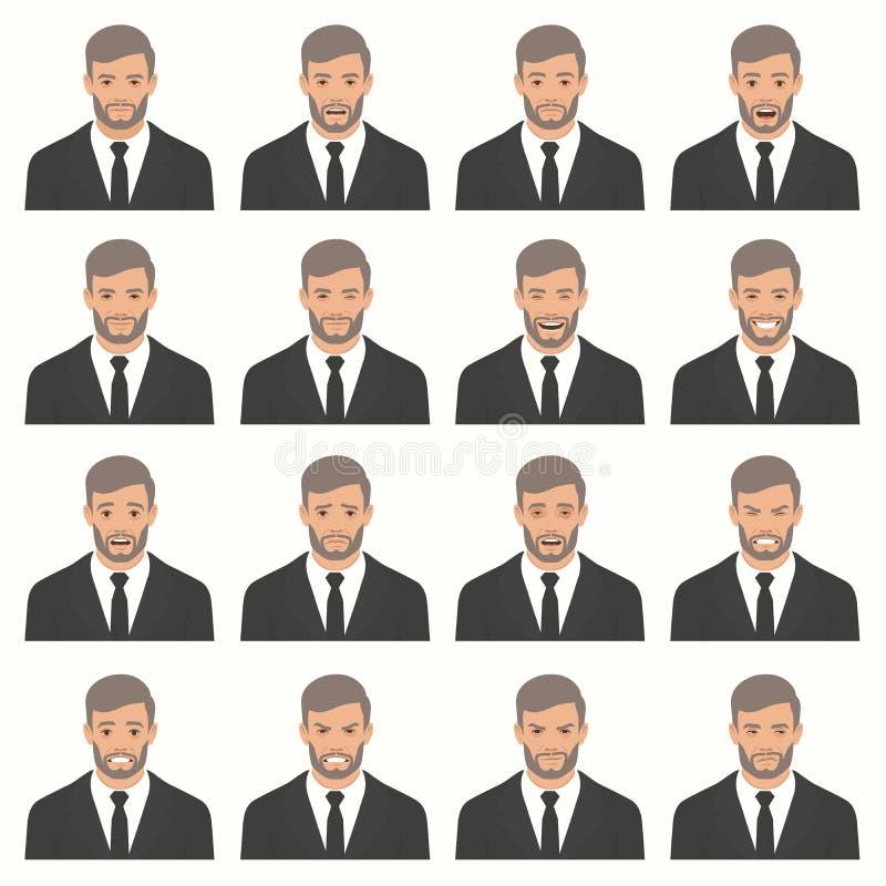 Ejemplo del vector de las expresiones de una cara libre illustration