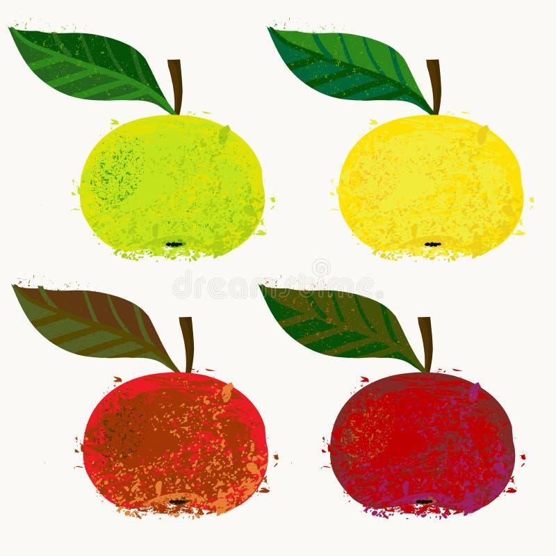 Ejemplo del vector de las frutas de la manzana ilustración del vector