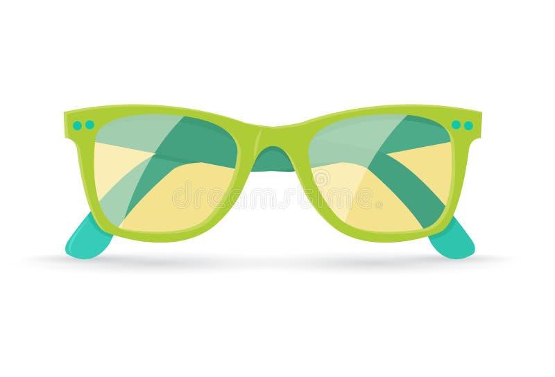 Ejemplo del vector de las gafas de sol brillantes del verano ilustración del vector