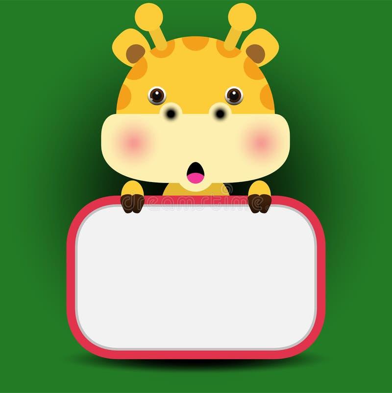 Ejemplo del vector de las jirafas del bebé   ilustración del vector