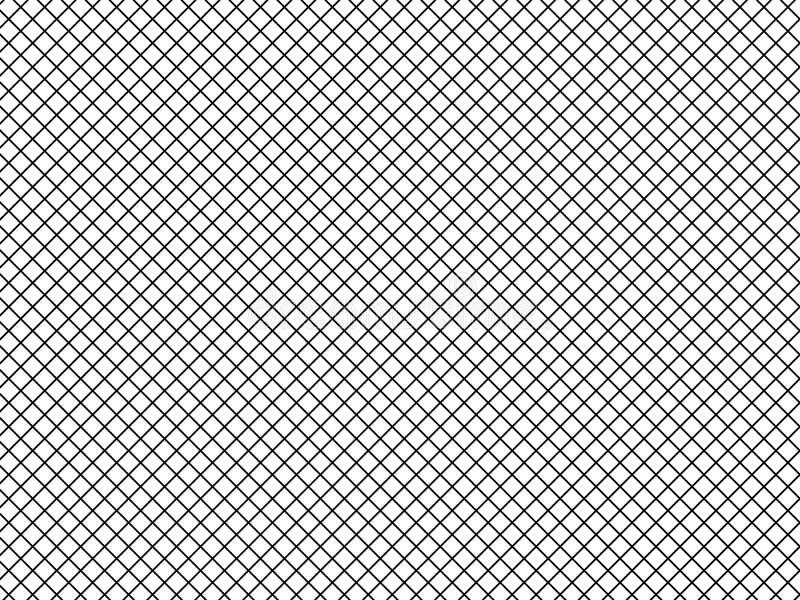 Ejemplo del vector de las líneas simples de células monocromáticas diagonales, cuadrados, modelo de rejilla Textura blanco y negr ilustración del vector