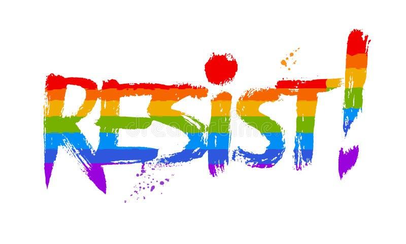 Ejemplo del vector de las letras de la palabra Resist libre illustration
