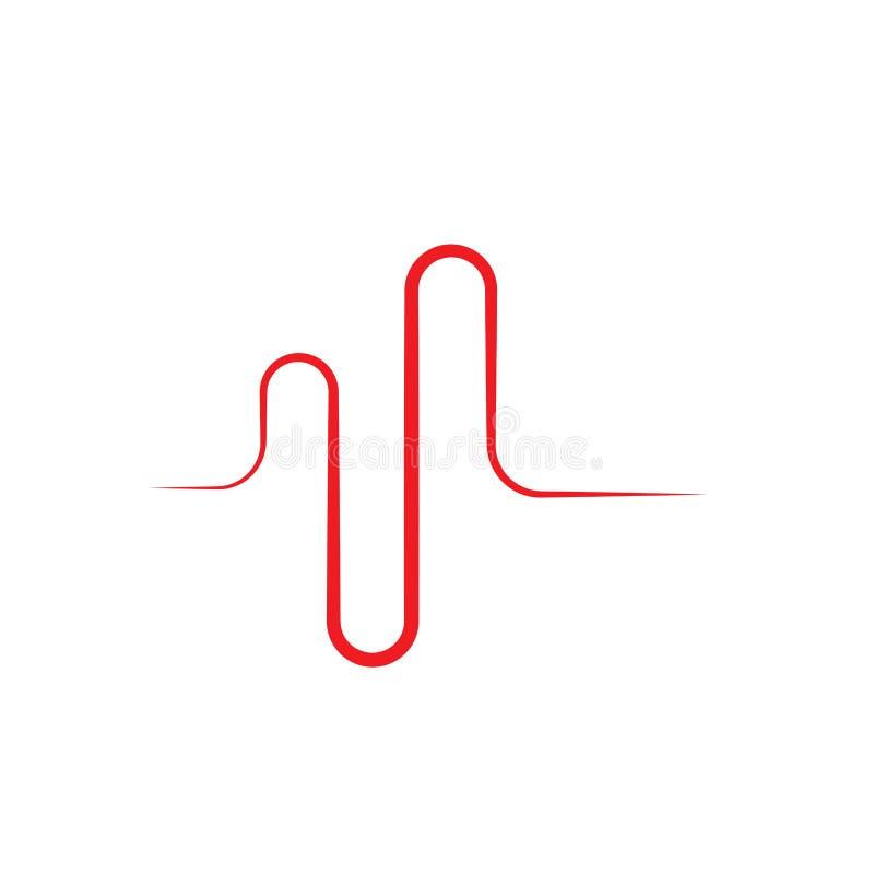 Ejemplo del vector de las ondas ac?sticas libre illustration