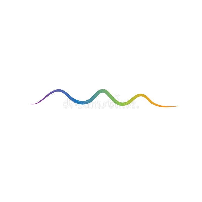 Ejemplo del vector de las ondas ac?sticas ilustración del vector